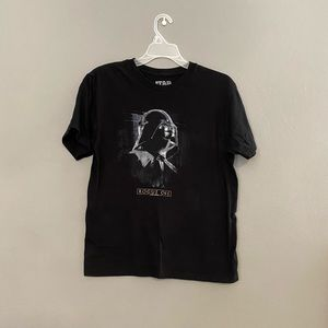Star Wars Large Black Rouge One Graphic Tee EUC